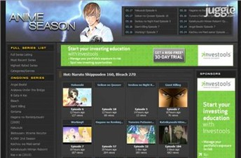 animeseason.com Homepage Screenshot