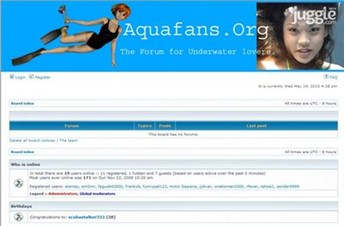 aquafans.org Homepage Screenshot