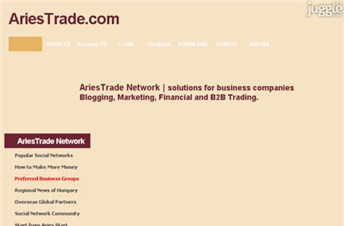 ariestrade.com Homepage Screenshot