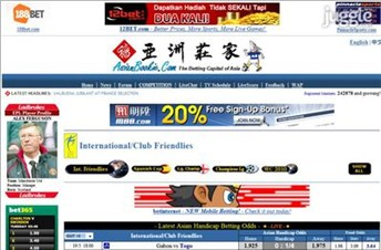 asianbookie.com Homepage Screenshot