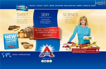 atkins.com Homepage Screenshot