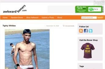 awkwardboners.com Homepage Screenshot