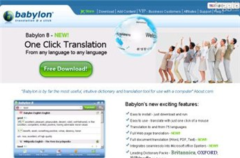 babylon.com Homepage Screenshot