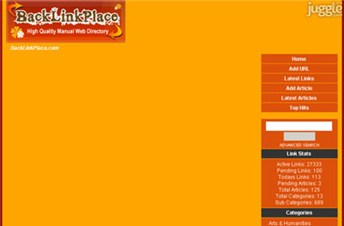 backlinkplace.com Homepage Screenshot