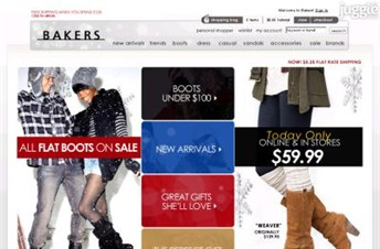 bakersshoes.com Homepage Screenshot