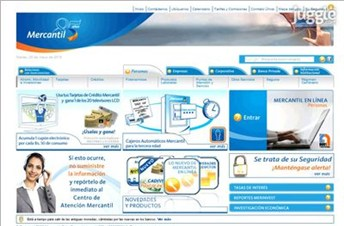 bancomercantil.com Homepage Screenshot