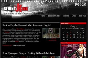 behindkink.com Homepage Screenshot