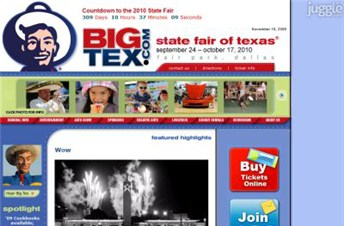 bigtex.com Homepage Screenshot