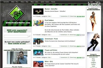 bildschirmarbeiter.com Homepage Screenshot