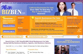 bizben.com Homepage Screenshot
