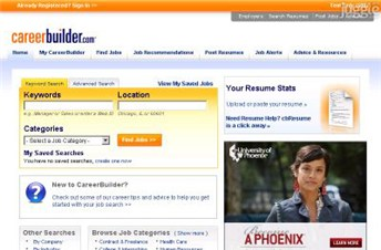careerbuilder.com Homepage Screenshot