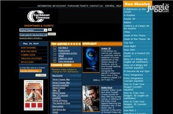 caribbeancinemas.com Homepage Screenshot