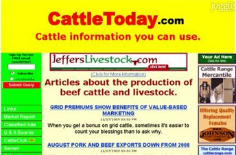 cattletoday.com Homepage Screenshot