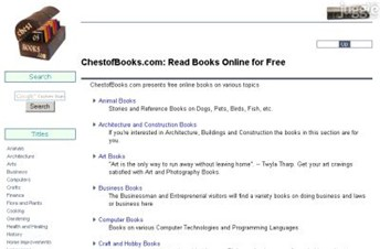 chestofbooks.com Homepage Screenshot