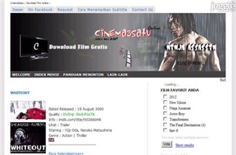cinema3satu.blogspot.com Homepage Screenshot