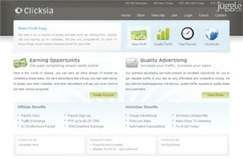 clicksia.com Homepage Screenshot