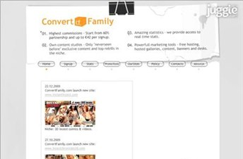 convertfamily.com Homepage Screenshot