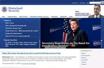 dhs.gov Homepage Screenshot