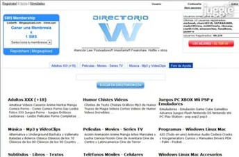directoriow.com Homepage Screenshot