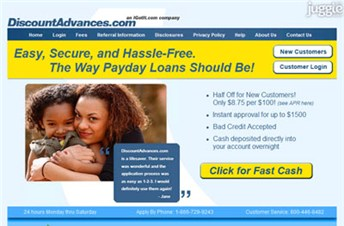 discountadvances.com Homepage Screenshot