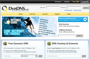 dyndns.org Homepage Screenshot