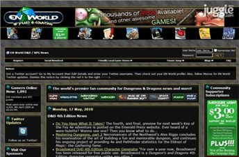 enworld.org Homepage Screenshot