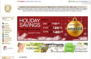 essentialdayspa.com Homepage Screenshot