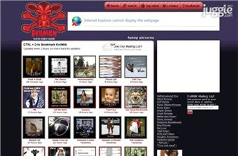 evilmilk.com Homepage Screenshot