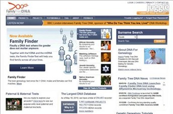familytreedna.com Homepage Screenshot