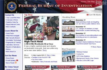 fbi.gov Homepage Screenshot