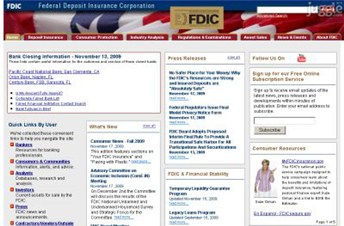 fdic.gov Homepage Screenshot