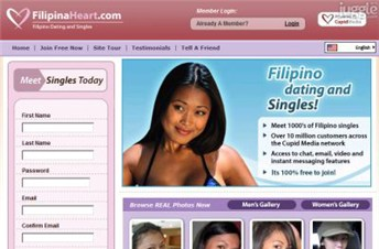 filipinaheart.com Homepage Screenshot