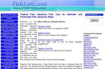 fishlore.com Homepage Screenshot