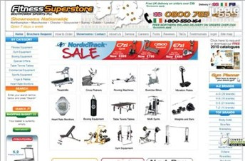 fitness-superstore.co.uk Homepage Screenshot