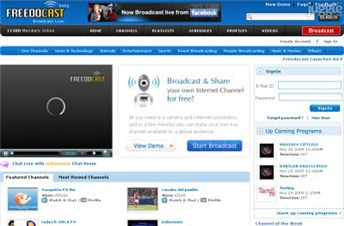 freedocast.com Homepage Screenshot