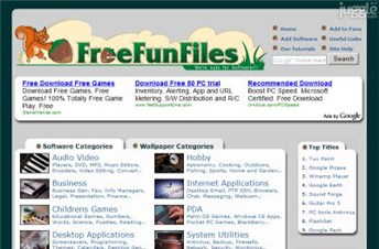freefunfiles.com Homepage Screenshot