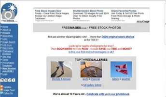 freeimages.co.uk Homepage Screenshot