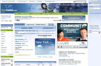 freemeteo.com Homepage Screenshot