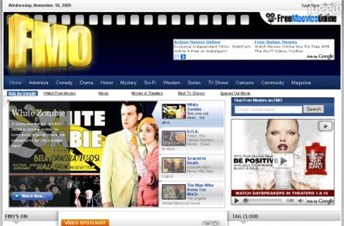 freemooviesonline.com Homepage Screenshot