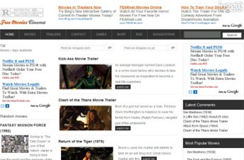 freemoviescinema.com Homepage Screenshot