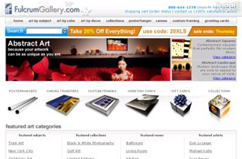 fulcrumgallery.com Homepage Screenshot