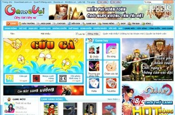 gamevui.com Homepage Screenshot