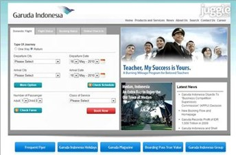 garuda-indonesia.com Homepage Screenshot