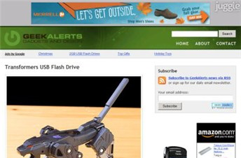 geekalerts.com Homepage Screenshot