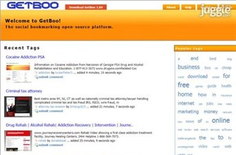 getboo.com Homepage Screenshot