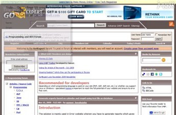 go4expert.com Homepage Screenshot