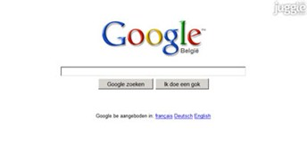 google.be Homepage Screenshot