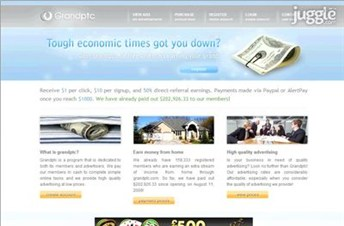 grandptc.com Homepage Screenshot
