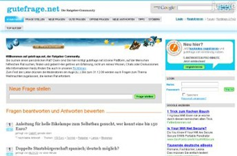 gutefrage.net Homepage Screenshot