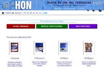 hon.ch Homepage Screenshot